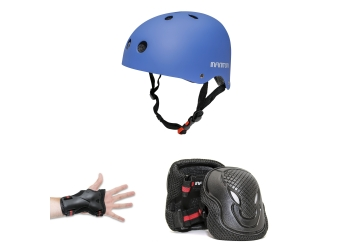 PROTECTION KIT INFINITON CASCO+EXTREMIDADES AZUL