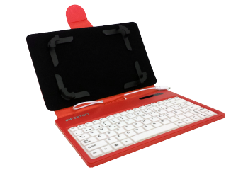 "FUNDA TECLADO BLUETOOTH INFINITON TABLET 7"" ROJA"