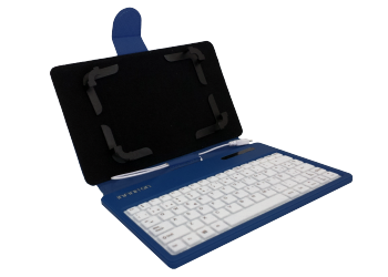 "FUNDA TECLADO BLUETOOTH INFINITON TABLET 7"" AZUL"